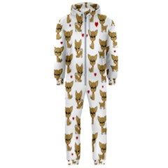 Chihuahua Pattern Hooded Jumpsuit (men)