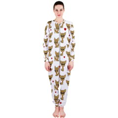 Chihuahua Pattern Onepiece Jumpsuit (ladies)