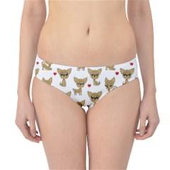 Chihuahua Pattern Hipster Bikini Bottoms