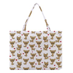 Chihuahua Pattern Medium Tote Bag