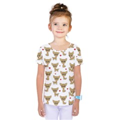 Chihuahua Pattern Kids  One Piece Tee