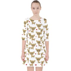 Chihuahua Pattern Pocket Dress