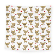 Chihuahua Pattern Square Tapestry (large)