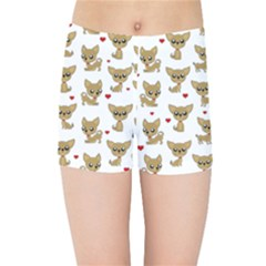 Chihuahua Pattern Kids Sports Shorts
