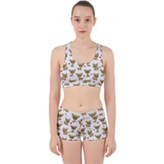 Chihuahua Pattern Work It Out Sports Bra Set