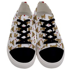 Chihuahua Pattern Men s Low Top Canvas Sneakers