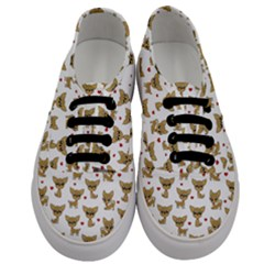 Chihuahua Pattern Men s Classic Low Top Sneakers