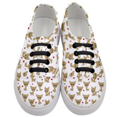 Chihuahua Pattern Women s Classic Low Top Sneakers