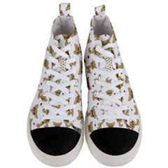Chihuahua Pattern Men s Mid Top Canvas Sneakers