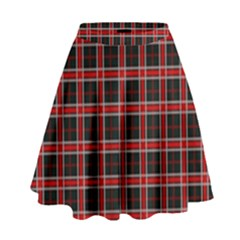 Coke Tartan High Waist Skirt