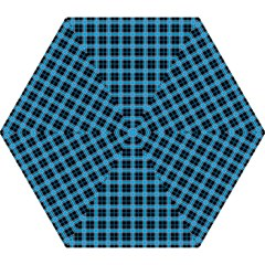 Deep Sea Tartan Mini Folding Umbrellas