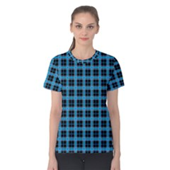 Deep Sea Tartan Women s Cotton Tee