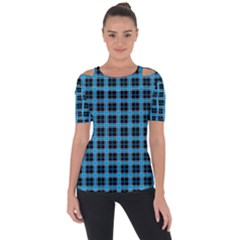Deep Sea Tartan Short Sleeve Top