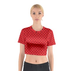 Ladybug Cotton Crop Top