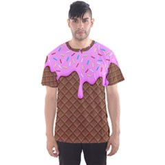 Chocolate And Strawberry Icecream Men s Sports Mesh Tee
