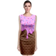 Chocolate And Strawberry Icecream Classic Sleeveless Midi Dress