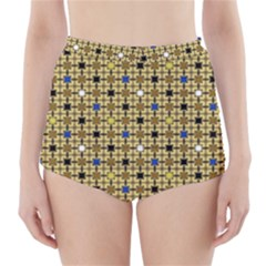 Persian Blocks Desert High Waisted Bikini Bottoms
