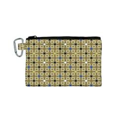 Persian Blocks Desert Canvas Cosmetic Bag (small)