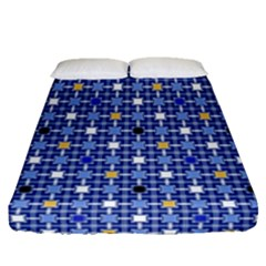 Persian Block Sky Fitted Sheet (queen Size)