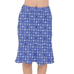 Persian Block Sky Mermaid Skirt