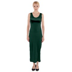 Sexy Pure Deep Green Fitted Maxi Dress