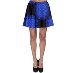 Blueberry Cosmos Skater Skirt