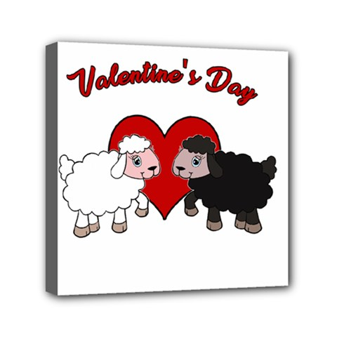 Valentines Day   Sheep  Canvas Travel Bag
