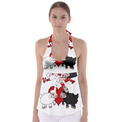 Valentines Day   Sheep  Babydoll Tankini Top