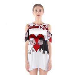 Valentines Day   Sheep  Shoulder Cutout One Piece