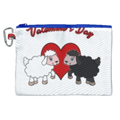 Valentines Day   Sheep  Canvas Cosmetic Bag (xl)