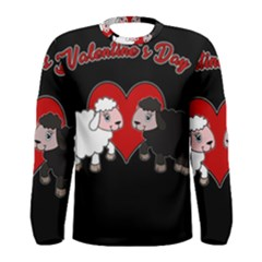 Valentines Day   Sheep  Men s Long Sleeve Tee