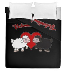 Valentines Day   Sheep  Duvet Cover Double Side (queen Size)