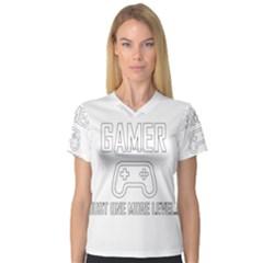 Gamer V Neck Sport Mesh Tee
