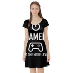 Gamer Short Sleeve Skater Dress
