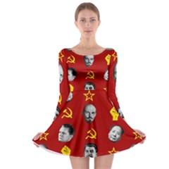 Communist Leaders Long Sleeve Skater Dress
