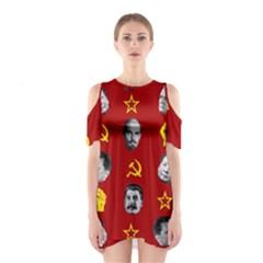 Communist Leaders Shoulder Cutout One Piece