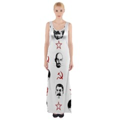 Communist Leaders Maxi Thigh Split Dress