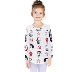 Communist Leaders Kids  Long Sleeve Tee