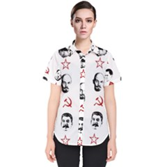 Communist Leaders Women s Short Sleeve Shirt