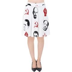 Communist Leaders Velvet High Waist Skirt