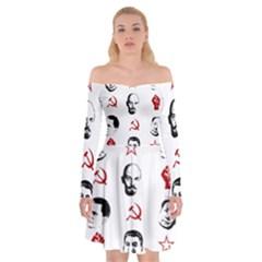 Communist Leaders Off Shoulder Skater Dress
