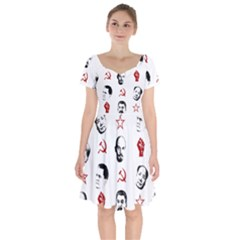 Communist Leaders Short Sleeve Bardot Dress