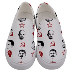 Communist Leaders Men s Canvas Slip Ons