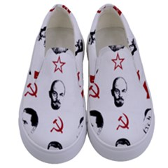 Communist Leaders Kids  Canvas Slip Ons