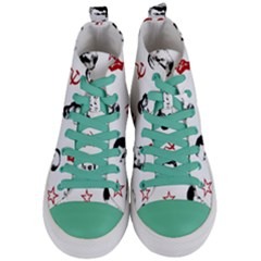 Communist Leaders Women s Mid Top Canvas Sneakers
