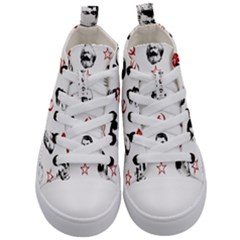 Communist Leaders Kid s Mid Top Canvas Sneakers