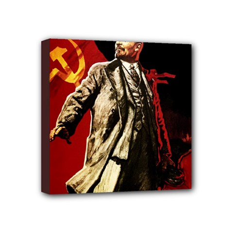 Lenin  Mini Canvas 4  X 4