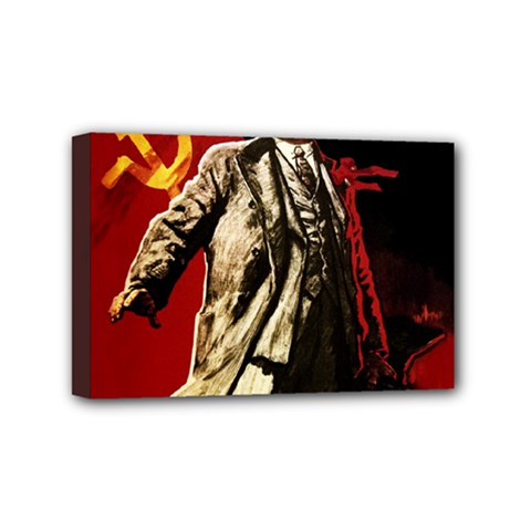 Lenin  Mini Canvas 6  X 4
