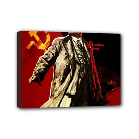 Lenin  Mini Canvas 7  X 5
