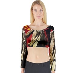 Lenin  Long Sleeve Crop Top